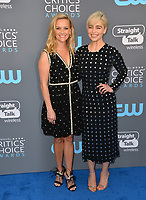Reese Witherspoon & Emilia Clarke at the 23rd Annual Critics' Choice Awards at Barker Hangar, Santa Monica, USA 11 Jan. 2018<br /> Picture: Paul Smith/Featureflash/SilverHub 0208 004 5359 sales@silverhubmedia.com