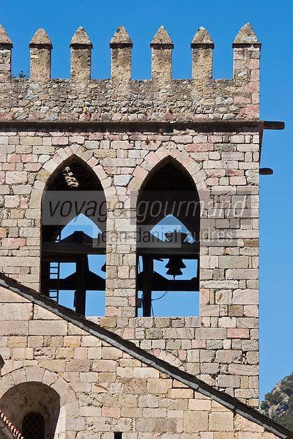 Europe/France/Languedoc-Roussillon/66/Pyrénées-Orientales/Conflent/Villefranche-de-Conflent: Clocher de l'église paroissiale Saint-Jacques