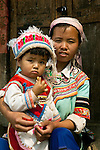 Hani mother and chile, Yannan, China