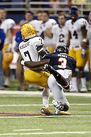 SAN ANTONIO, TX - NOVEMBER 10, 2012: The McNeese State University Cowboys vs. the University of Texas at San Antonio Roadrunners Football at the Alamodome. (Photo by Jeff Huehn)