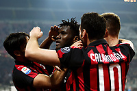 Frank Kessie of AC Milan celebrates with team mates after scoring second goal for his side <br /> Milano 22-02-2019 Stadio Giuseppe Meazza in an Siro Football Serie A 2018/2019 AC Milan - Empoli <br /> Foto Image Sport / Insidefoto