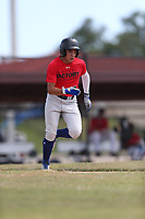 Christian Cairo (57) of Calvary Christian High School in Clearwater, Florida during the Under Armour Baseball Factory National Showcase, Florida, presented by Baseball Factory on June 12, 2018 the Joe DiMaggio Sports Complex in Clearwater, Florida.  (Nathan Ray/Four Seam Images)