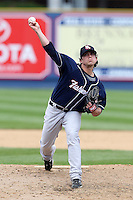 New Hampshire Fisher Cats relief pitcher Alan Farina #10 delivers a pitch during a game against the Reading Phillies at FirstEnergy Stadium on May 5, 2011 in Reading, Pennsylvania.  New Hampshire defeated Reading by the score of 10-5.  Photo By Mike Janes/Four Seam Images