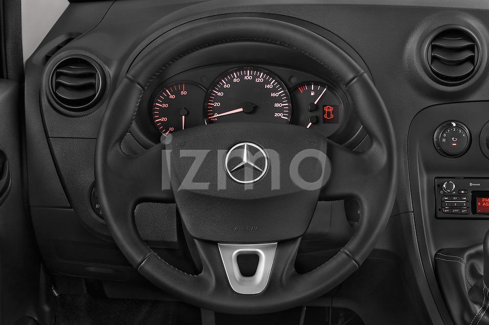 Car pictures of steering wheel view of a 2015 Mercedes Benz Citan 109 Cdi 5 Places 5 Door Passenger Van Steering Wheel