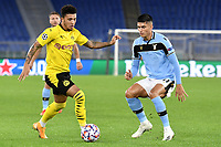 Jadon Sancho of Borussia Dortmund and Joaquin Correa of SS Lazio during the Champions League Group Stage F day 1 football match between SS Lazio and Borussia Dortmund at Olimpic stadium in Rome (Italy), October, 20th, 2020. Photo Andrea Staccioli / Insidefoto