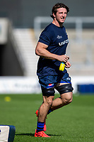 13th September 2020; AJ Bell Stadium, Salford, Lancashire, England; English Premiership Rugby, Sale Sharks versus Bath; Tom Curry of Sale Sharks runs out for the warm up