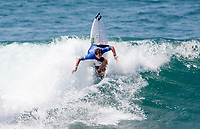Huntington Beach, CA - Saturday August 05, 2017: Griffin Colapinto during a World Surf League (WSL) Qualifying Series (QS) fifth round heat in the 2017 Vans US Open of Surfing on the South side of the Huntington Beach pier.