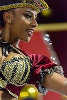 SÃO PAULO, SP, 09.03.2019 - CARNAVAL-SP - Isa Salles, princesa de bateria da escola de samba Dragões da Real durante Desfile das campeãs do Carnaval de São Paulo, no Sambódromo do Anhembi em Sao Paulo, na madrugada deste sábado, 09.(Foto: Anderson Lira/Brazil Photo Press)