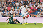 Real Madrid's Marcelo during La Liga match between Real Madrid and Real Betis at Santiago Bernabeu Stadium in Madrid, Spain September 20, 2017. (ALTERPHOTOS/Borja B.Hojas)