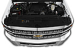 Car stock 2019 Chevrolet Silverado-3500 WT 4 Door Pick Up engine high angle detail view