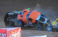 Dec. 10, 2011; Chandler, AZ, USA;  LOORRS pro 2 unlimited driver Nick Tyree (91), Phil Bollman (65) and Rob Naughton (54) during round 15 at Firebird International Raceway. Mandatory Credit: Mark J. Rebilas-