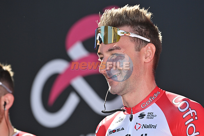 Elia Viviani (ITA) Cofidis at sign on before the start of Stage 6 of the 103rd edition of the Giro d'Italia 2020 running 188km from Castrovillari to Matera, Sicily, Italy. 8th October 2020.  <br />
