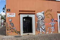 Oaxaca; Mexico; North America.; Day of the Dead Decorations; Jalatlaco Neighborhood; skeleton; death;