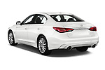 Car pictures of rear three quarter view of a 2018 Infiniti Q50 Premium 4 Door Sedan angular rear