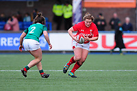 Caryl Thomas of Wales in action during the Women's Six Nations match between Wales and Ireland at Cardiff Arms Park, Cardiff, Wales, UK. Sunday 17 March 2019