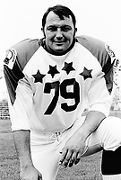 Greg Findlay 1970 Canadian Football League Allstar team. Copyright photograph Ted Grant