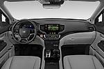 Stock photo of straight dashboard view of 2022 Honda Pilot Touring-2WD 5 Door suv Dashboard
