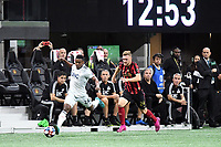 Atlanta, GA - Atlanta United advanced to the 2019 Eastern Conference semifinals of the MLS Cup Playoffs with a 1-0 win over the New England Revolution at Mercedes-Benz Stadium in front of a crowd of 66,114.