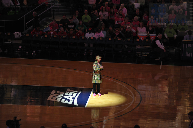 Feb. 12, 2011; Anne Thompson at the Pink Zone Women's Basketball game.