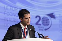 Nicolas  Remillard, attend <br /> the International Economic Forum of the Americas 20th Edition, from June 9-12, 2014 <br /> <br />  Photo : Agence Quebec Presse - Pierre Roussel