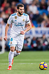 Nacho Fernandez of Real Madrid in action during the La Liga 2017-18 match between Real Madrid and UD Las Palmas at Estadio Santiago Bernabeu on November 05 2017 in Madrid, Spain. Photo by Diego Gonzalez / Power Sport Images