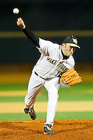 Relief pitcher Daniel Marrs #16 of the Wake Forest Demon Deacons in action against the North Carolina Tar Heels at Gene Hooks Field on March 11, 2011 in Winston-Salem, North Carolina.  Photo by Brian Westerholt / Four Seam Images