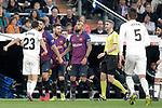 Real Madrid CF's Sergio Reguilon argues with FC Barcelona's Luis Suarez during La Liga match. March 02,2019. (ALTERPHOTOS/Alconada)