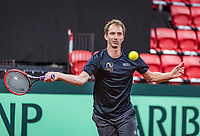 The Hague, The Netherlands, September 11, 2017,  Sportcampus , Davis Cup Netherlands - Chech Republic, training, Matwe Middelkoop (NED) <br /> Photo: Tennisimages/Henk Koster