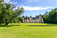 France, Cher, Berry, Route Jacques Coeur, Chateau de Meillant, castle and park // France, Cher (18), Berry, Route Jacques Coeur, Meillant, château de Meillant, château et parc