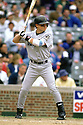 CHICAGO - CIRCA 1996:  Craig Biggio #7 of the Houston Astros bats during an MLB game at Wrigley Field in Chicago, Illinois. Biggio played for 20 seasons, all with the Houston Astros, was a 7-time All-Star and was inducted to the Baseball Hall of Fame in 2015.(David Durochik / SportPics) --Craig Biggio