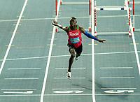 1st May 2021; Silesian Stadium, Chorzow, Poland; World Athletics Relays 2021. Day 1; Kenyan Hurdler Wiseman Mukhobe takes bronze in the shuttle hurdles relay mixed final