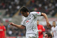 Pictured: Federico Bessone of Swansea City in action<br />