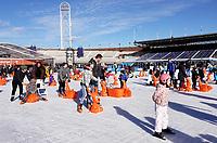 Nederland Amsterdam 2018. Schaatsen op de Coolste Baan in het Olympisch Stadion . Foto Berlinda van Dam / Hollandse Hoogte