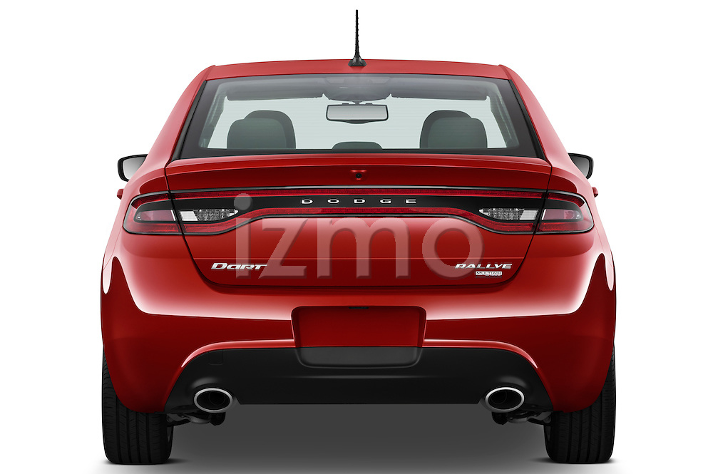 Straight rear photo of a 2013 Dodge Dart Rallye sedan