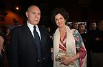 SANDRO CHIA CON MARELLINA CARACCIOLO<br /> INAUGURAZIONE PALAZZO FENDI ROMA 2005