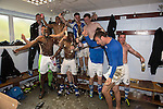 St Johnstone v Motherwell.....19.05.13      SPL.St Johnstone players celebrate in the dressing room.Picture by Graeme Hart..Copyright Perthshire Picture Agency.Tel: 01738 623350  Mobile: 07990 594431