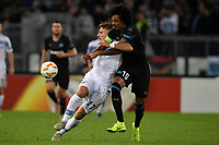 Ciro Immobile of Lazio and Luiz Gustavo of Marseille compete for the ball during the Uefa Europa League 2018/2019 football match between SS Lazio and Marseille at stadio Olimpico, Roma, November, 08, 2018 <br />  Foto Andrea Staccioli / Insidefoto