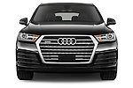 Car photography straight front view of a 2016 Audi Q7 S Line 5 Door Suv Front View