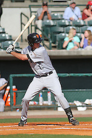 Augusta GreenJackets Brandon Bednar #19 at bat during a game against the Charleston RiverDogs at Joseph P. Riley Jr. Ballpark on April 13, 2014 in Charleston, South Carolina. Augusta defeated Charleston 2-1. (Robert Gurganus/Four Seam Images)