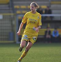 Waasland Beveren Sinaai Girls - Famkes Merkem : .Kwartfinale beker van België 2011-2012 : Justine Vanhaevermaet..foto DAVID CATRY / JOKE VUYLSTEKE / Vrouwenteam.be