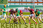 Tommy Barrett, Causeway in action against Philip Maunsell, Kilmoyley during the Kerry County Senior Hurling Championship Final match between Kilmoyley and Causeway at Austin Stack Park in Tralee