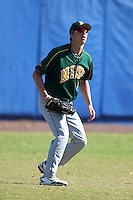North Dakota State Bisons Nick Altavilla #5 during a game vs Bradley Braves at Chain of Lakes Park in Winter Haven, Florida;  March 17, 2011.  Bradley defeated North Dakota State 6-5.  Photo By Mike Janes/Four Seam Images