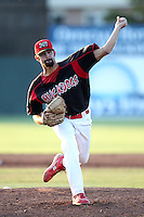 Batavia Muckdogs pitcher Patrick Daugherty #39 delivers a pitch during a game against the Tri-City ValleyCats at Dwyer Stadium on July 14, 2011 in Batavia, New York.  Batavia defeated Tri-City 6-3.  (Mike Janes/Four Seam Images)