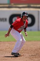 Mickey Wiswall #15 of the High Desert Mavericks runs the bases against the Visalia Rawhide at Stater Bros. Stadium on May 16, 2012 in Adelanto,California. (Larry Goren/Four Seam Images)