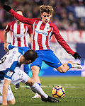 Antoine Griezmann of Atletico de Madrid in action during the La Liga match between Atletico de Madrid and RCD Espanyol at the Vicente Calderón Stadium on 03 November 2016 in Madrid, Spain. Photo by Diego Gonzalez Souto / Power Sport Images