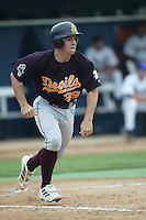 Tuffy Gosewisch of the Arizona State Sun Devils runs to first base during a game against the Cal State Fullerton Titans at Goodwin Field on June 6, 2003 in Fullerton, California. (Larry Goren/Four Seam Images)