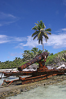 WW1 Canon on Horsburgh Island, Cocos Keeling Islands, Indian Ocean
