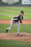 Grand Junction Rockies starting pitcher Ryan Feltner (28) follows through on his delivery during a Pioneer League game against the Helena Brewers at Kindrick Legion Field on August 19, 2018 in Helena, Montana. The Grand Junction Rockies defeated the Helena Brewers by a score of 6-1. (Zachary Lucy/Four Seam Images)