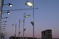 - illuminazione notturna nel nuovo quartiere della Bicocca....- night lighting system in the new Bicocca district