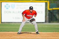 Greeneville Astros first baseman Bryan Muniz (13) on defense against the Burlington Royals at Burlington Athletic Park on June 29, 2014 in Burlington, North Carolina.  The Royals defeated the Astros 11-0. (Brian Westerholt/Four Seam Images)